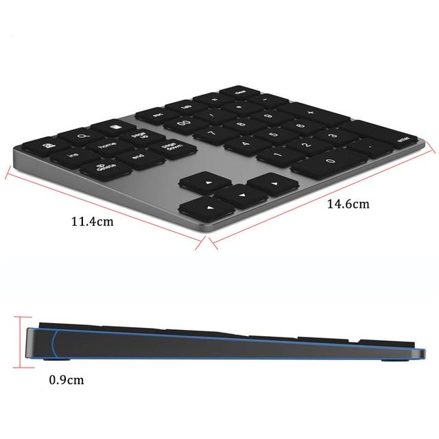Avatto 34 keys Bluetooth Wireless Numeric Keypad 6
