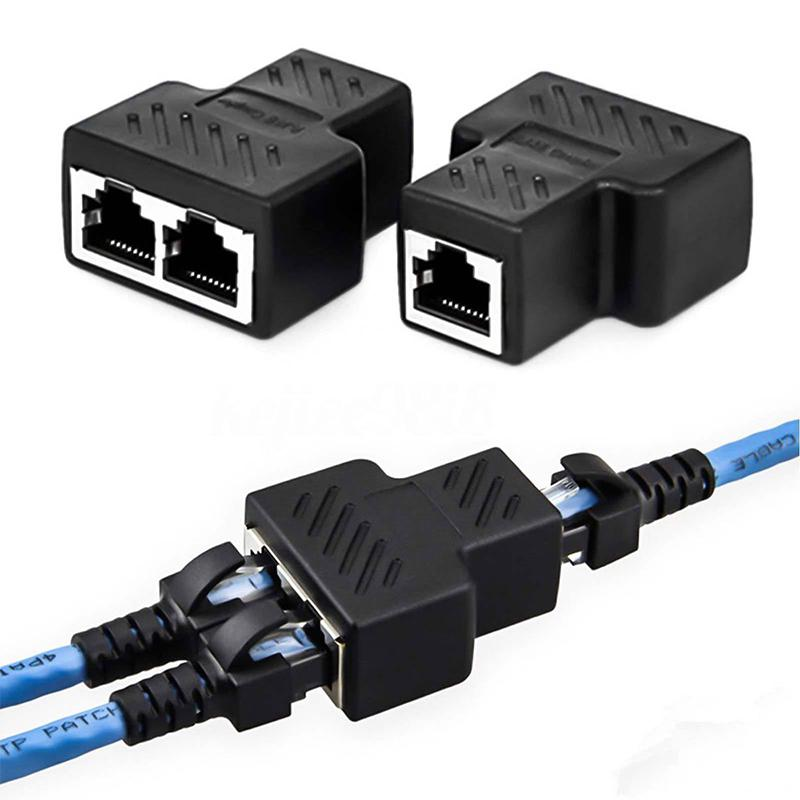 RJ45 Network Connector 1 To 2 Ways Splitter Connector Wire Connector Universal Use R20