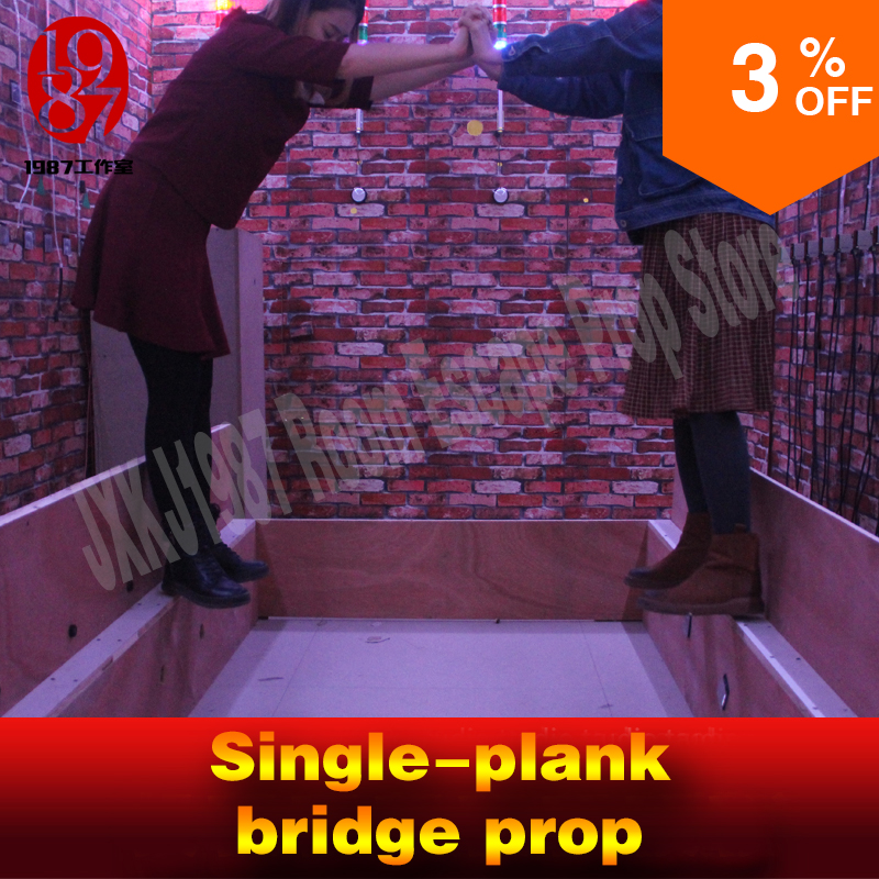 Room escape prop Single plank bridge prop walk from the starting position of the bridge to the end position to unlock from JXKJ