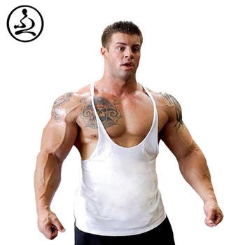 XBPL Plain Muscle Undershirt Men Bodybuilding Tank Top Fitness Singlet Weight Lifting  Sleeveless  Shirt Cotton 1CM Strap Boy AG2R La Mondiale 2019