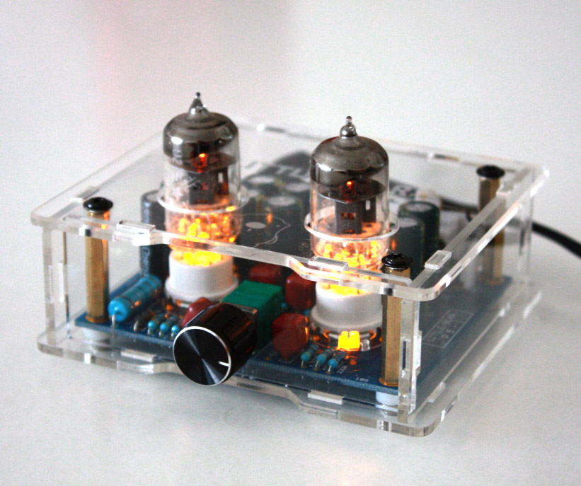 1PCS High quality Little bear P5 Stereo Vacuum Tube Preamplifier Audio HiFi Buffer Pre-amp DIY new 1pcs high quality 6n3 6z4 tube valve pre amp class a audio stereo preamplifier include transformer g2 007