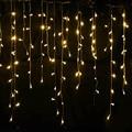 Conector de 5 M x 0.4 M 0.5 M 0.6 M led cortina de la secuencia del carámbano luces led luces de hadas de la Navidad lámparas Carámbano Luces de Navidad de La Boda partido