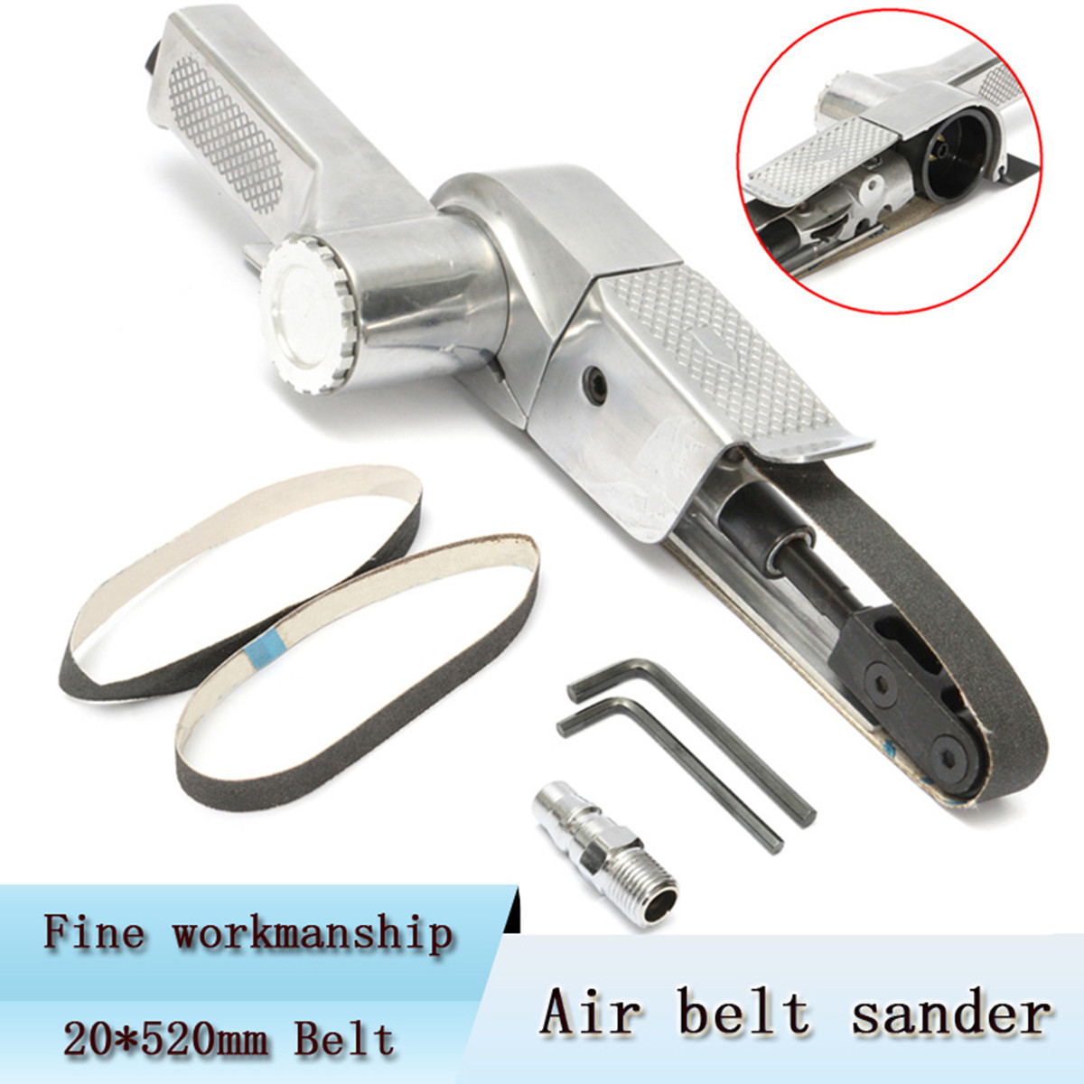 Air Belt Sander 20mm 360mm Sanding Buffing Assorted Vehicle Car Pneumatic tools Air Grinding Machine Polisher Tool Endless belt borntun air belt sander pneumatic air belt sander 60mm 260mm sanding tool air pneumatic sanding tools orbital air polisher tools