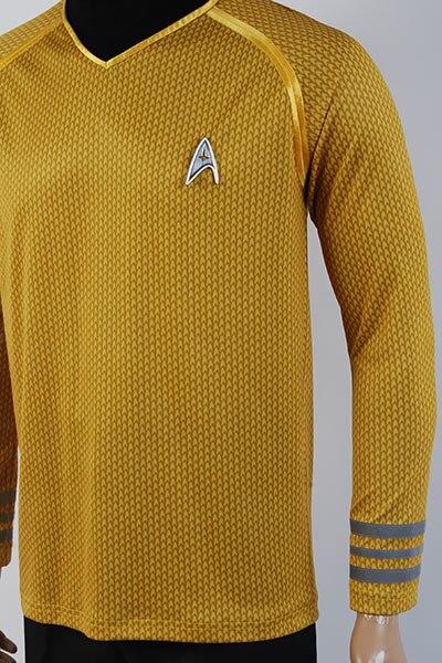 Polo Homme Star trek - Captain kirk uniform- Legend Icon - S, Jaune