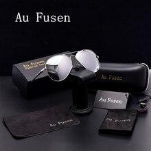 AuFusen Brand designer advanced Polarized Sunglasses women Luxury vintage Sunglasses men Leisure Driving aviator sunglasses