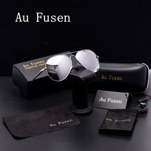 AuFusen Brand designer advanced Polarized Sunglasses women Luxury vintage Sunglasses men Leisure Driving aviator sunglasses