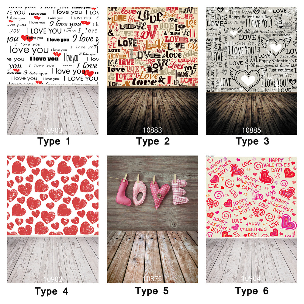 5x7ft Photo Backgrounds Wedding Lovers Photography Studio Props Wood Plank Love Saying Hearts Valentine Backdrops for Photobooth allenjoy photography backdrops love white wood board floor red hearts branches valentine s day wedding photo booth profissional