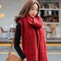 2017 nova Coreano Mulheres cachecol outono e inverno masculino e gola xale de lã de inverno feminino grosso Quente Malha Cachecóis Longos QR052