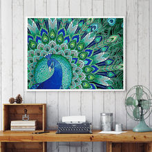 Special Shaped Diamond Painting Butterfly peacock owl flower DIY 5D Partial Drill Cross Stitch Kits Crystal Rhinestone Arts(China)