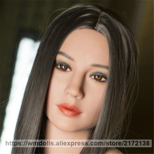 WMDOLL Silicone Sex Doll Heads with Oral Sex Love Doll Heads fit 145-172cm Real TPE Sex Doll