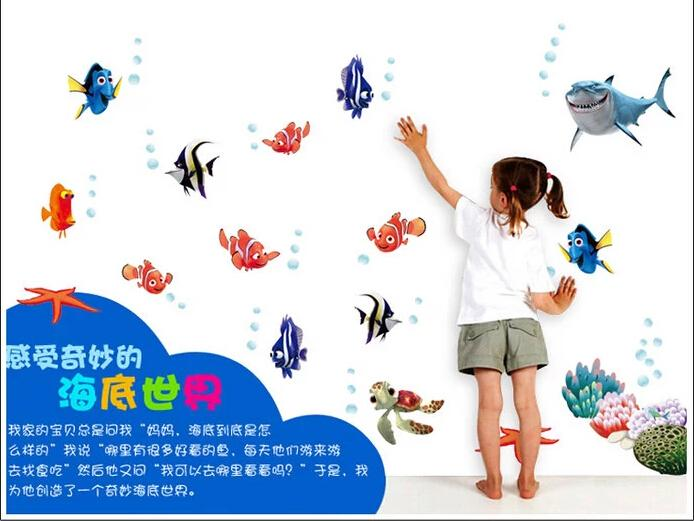 HTB1QCGGMpXXXXXxaXXXq6xXFXXXH - Wonderful Sea world colorful fish animals vinyl wall art window bathroom decor decoration wall stickers for nursery kids rooms