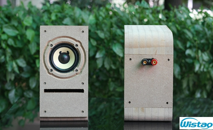 IWISTAO HIFI 3 Inches Full Range Speaker Wooden Cabinet Labyrinth Structure 2x10w 4 Ohms 85dB Rough Surface for Tube Amplifier