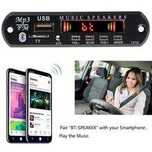 Автомобильный комплект громкой связи с Bluetooth, беспроводной fm-приемник, mp3-плеер, декодер, плата, USB 3,5 мм, музыкальный плеер, сделай сам, автомобильный динамик, модификация