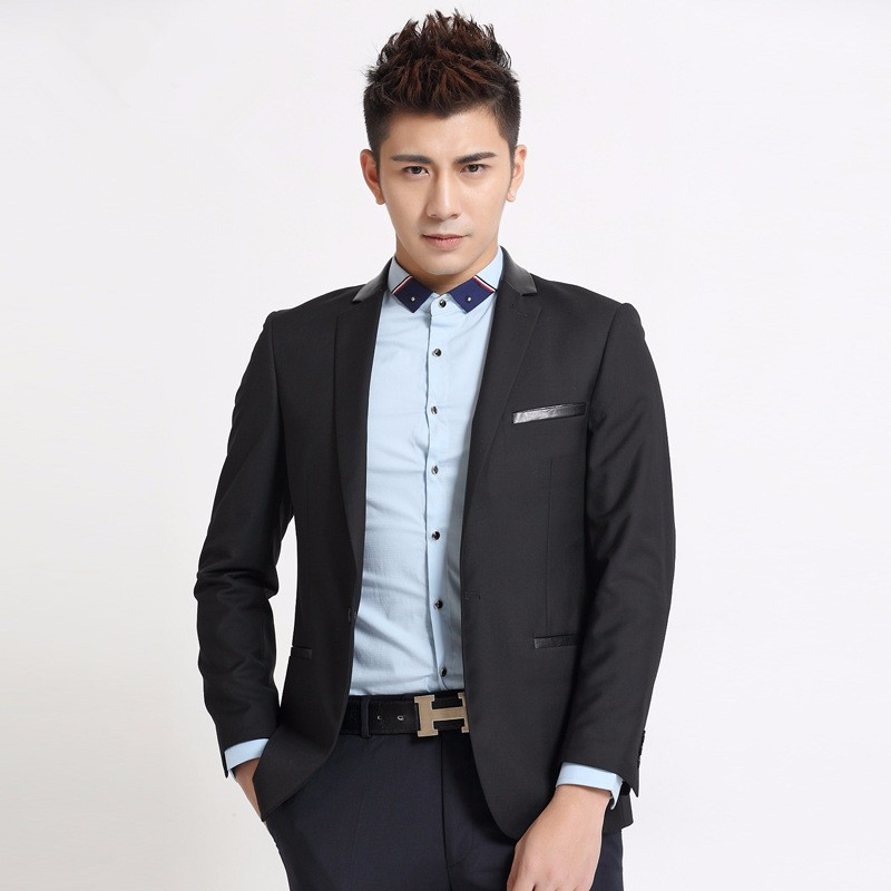 1.1Latest design men suits jacket one button black formal work suits jacket custom made wedding groom tuxedos jacket