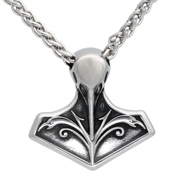 Mjolnir Pendant Necklace With Viking Gift Bag  Viking Necklace