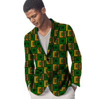 834f592c44 African Clothing Men S Print Blazers Ankara Patterns Slim Fit Suit Jacket  Male Blazers Casual Men