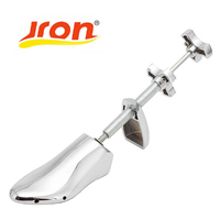 Jron 1 Piece Shoe Stretcher Shoes Tree Shaper Rack,Adjustable Aluminum Vintage Metal Hammered Shoe Shapes Expander Stretcher