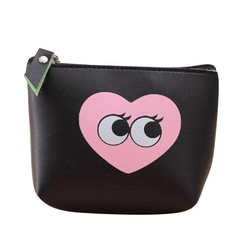 TEXU Women Girls Cute Zip Leather Coin Purse 9 patterns Wallet small Change bag Key pouch
