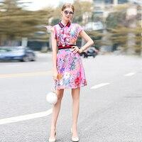 Short Dress High Quality 2018 Spring Summer New Women S Party Fashion Boho Beach Vintage Elegant