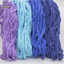 Colorful pompom lace trims,gear/tooth Shape 1cm wide pom pom Tassel lace trimming,DIY sewing accessory for garment 20yds/lot