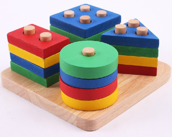 Free Shipping Education Wooden Toys Plan Toy Geometric