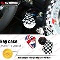 Leather Car Key Case Bag Keychain For Mini Cooper R55 R56 R57 R58 R59 R60 Clubman Countryman Accessories