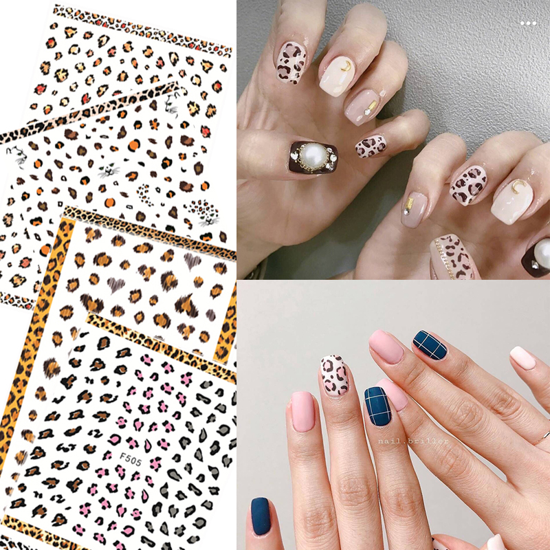 1pcs 3D Super Thin <font><b>Nail</b></font> <font><b>Sticker</b></font> Tips Women <font><b>Sexy</b></font> <font><b>Nail</b></font> Art Adhesive Decals Manicure Leopard Print Tool Decoration <font><b>Nail</b></font> Wraps image