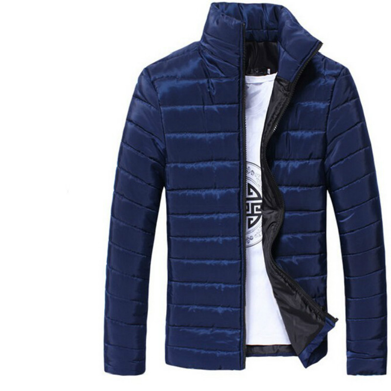 Classic Men Windbreak Winter Jackets Coats Solid Colors Outwear Tops for New Year Love Gift Father Husband Boyfriend 2018 New