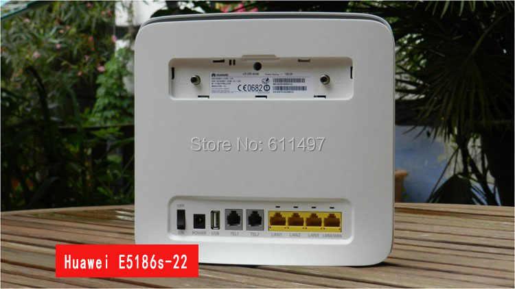 فتح جهاز توجيه هواوي E5186 4G LTE CPE CAT6 الأصلي E5186s-22a