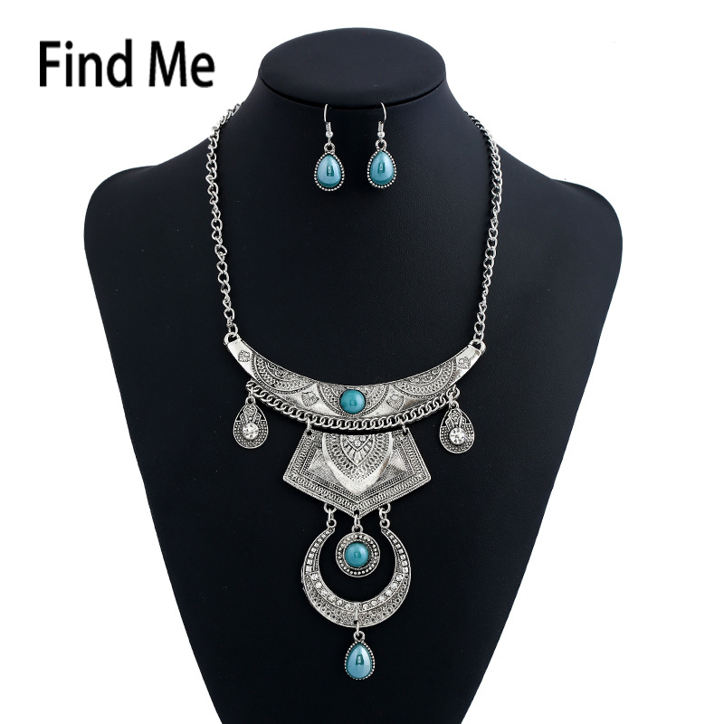 2017 brand Multilayer bijoux maxi Statement Necklace & Pendants Vintage Collar Carved choker necklace For women Jewelry