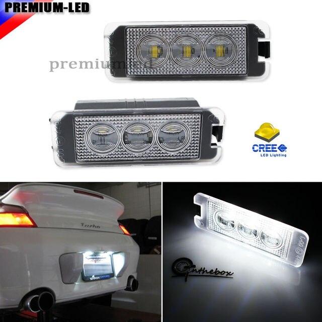 Super brillante LED blanco Marcos de matrícula luces para Volkswagen ...