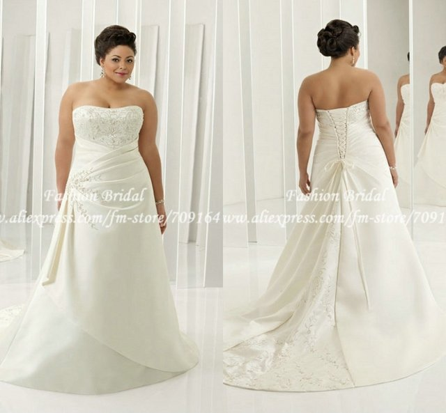 Twd075 Cap Sleeve Embroidered A Line Sweetheart Elegant Plus Size Corset Wedding Dress Bandage Gown