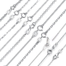 BAMOER Classic Basic Chain 100% 925 Sterling Silver Lobster Clasp Adjustable Necklace Chain Fashion Jewelry SCA009-45(China)