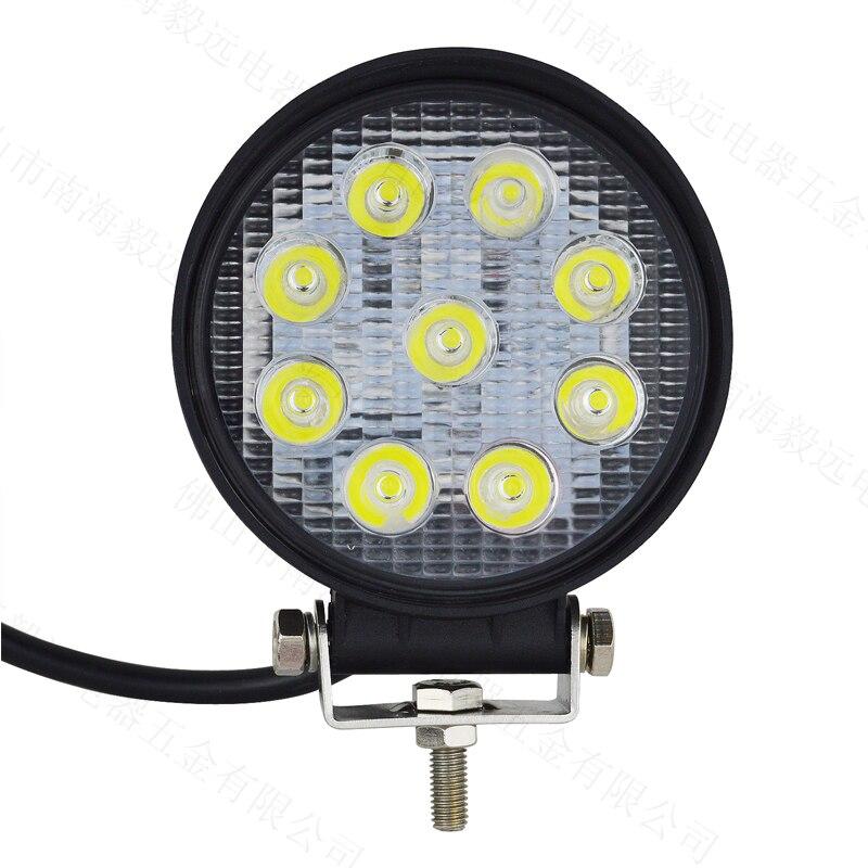 For Jeep wrangler 1990-2019 27W Daytime Running Lights Led Work Lights12V IP67 Waterproof 4.5 inch Flood Fog Lamps