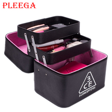 PEEGA Brand Women Cosmetic Box Designer High Quality Portable Cosmetic Bag Large Capacity PU Cosmetic Bag Women Makeup Dedicated