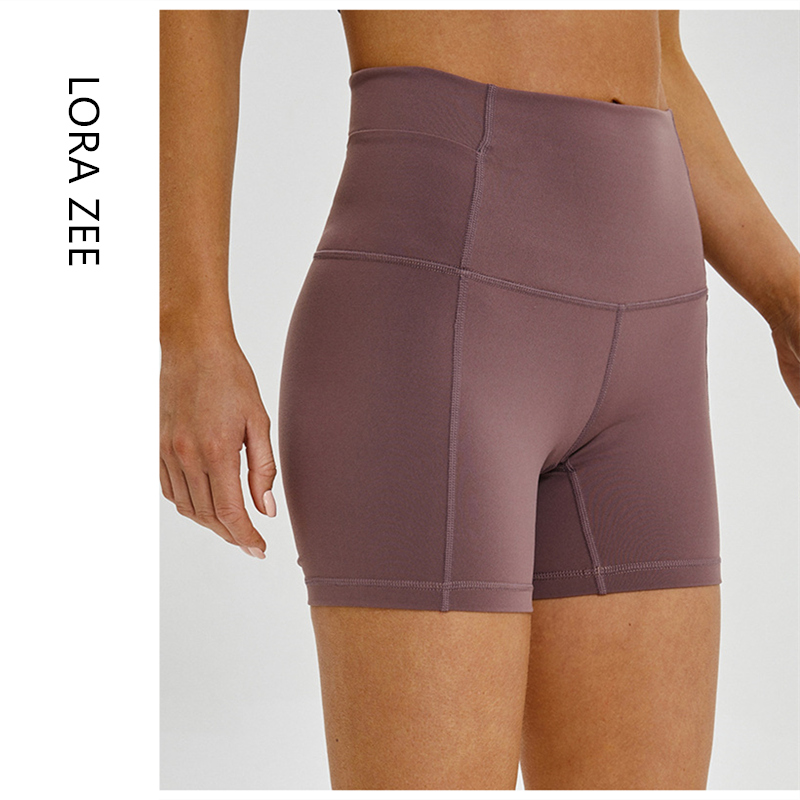 Excellent Quality Gym Shorts Women High Waist Workout Yoga Shorts With Inner Pocket Training Femme Tight Legging Shorts