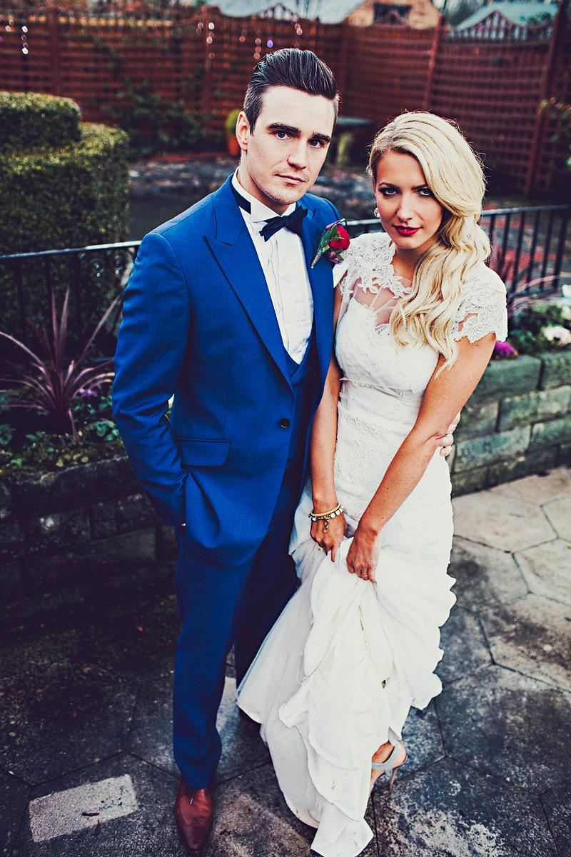 Groom Suit Royal Blue Mens Wedding Tuxedos Custom Made One Button ...