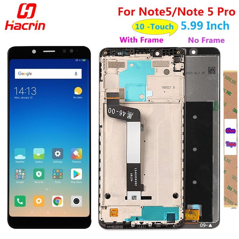 Xiaomi Nota Redmi 5 Pro Touch Screen Display LCD Bom Teste de Substituição do Conjunto Digitador Para Xiaomi Redmi Note5 5.99 Polegada