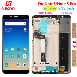 Xiaomi Redmi Note 5 Pro pantalla LCD de pantalla táctil de buena digitalizador Asamblea reemplazo para Xiaomi Redmi Note Note5 5,99 pulgadas