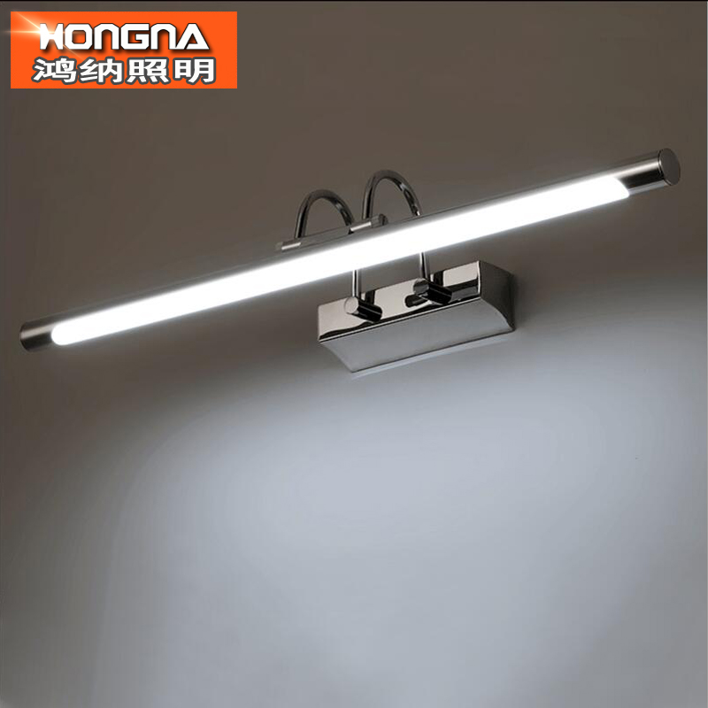 Fashion Bathroom LED Wall Lamp 220V Modern Brief LED Mirror Light Stainless Steel Material LED Wall Light luxury modern white acrylic 12w led bathroom wall lamp mirror front fashion wall light showroom washroom wall lamp