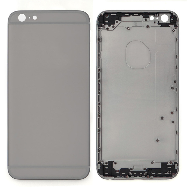 For iPhone 6 Plus Full Housing Back Battery Door Cover & Mid Frame Complete Assembly Replacement