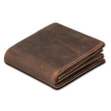 RFID Блокировка мужские кошельки Винтаж корова натуральная кожа кошелек мужской ручной работы на заказ доллар цена портмоне короткий кошелек carteira