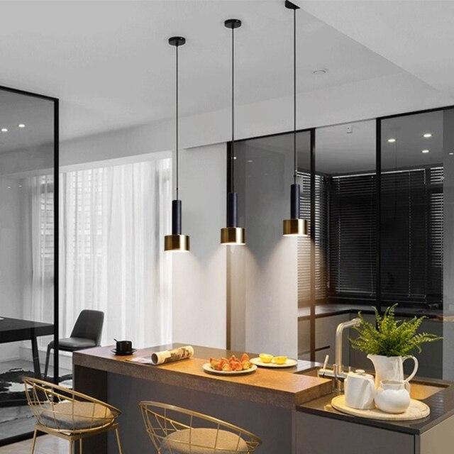 LukLoy Nordic başucu mutfak adası kolye ışık Modern başucu asılı lamba LED aydınlatma armatürü popüler süspansiyon ışıkları