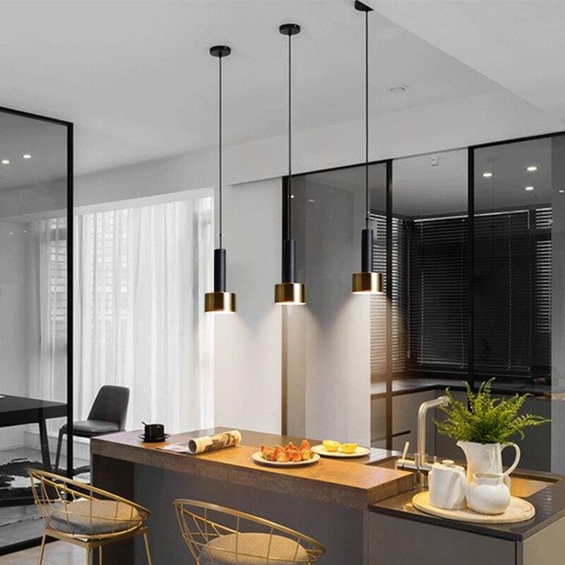 Lukloy nordic ilha cozinha cabeceira pingente de luz moderna lâmpada de cabeceira pendurado luminária led popular luzes suspensão