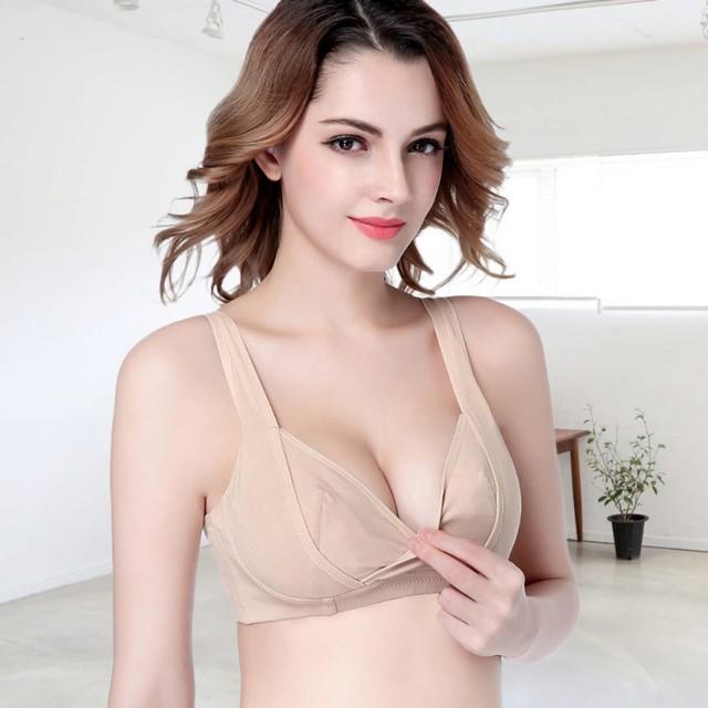 58fc5b81e29 Cotton Maternity Nursing Bra Sexy Underwear For Women Bra Sutian Large Size Push  Up Lingerie T8