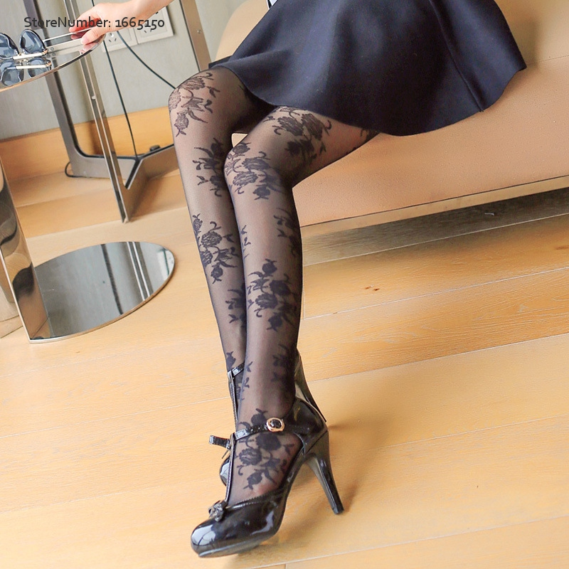 Buy High Quality Flower Tights Sexy Nylon Stockings Spring Summer Pantyhose Free Shipping