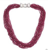 925 כסף סגול שרשרת גארנט האדום של נשים באירופה ובאמריקה שרשרת אביזרי מתנת Chainbone