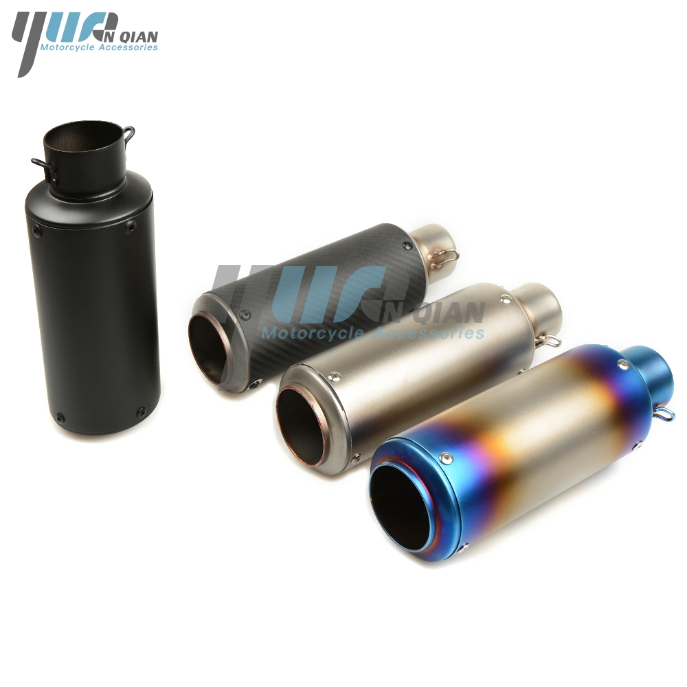 YUANQIAN for Universal 36 51mm Modified Exhaust Pipe Carbon Fiber Exhaust Pipe For Honda Yamaha R6 R1 YZF 600 1000 cbr1000 rr