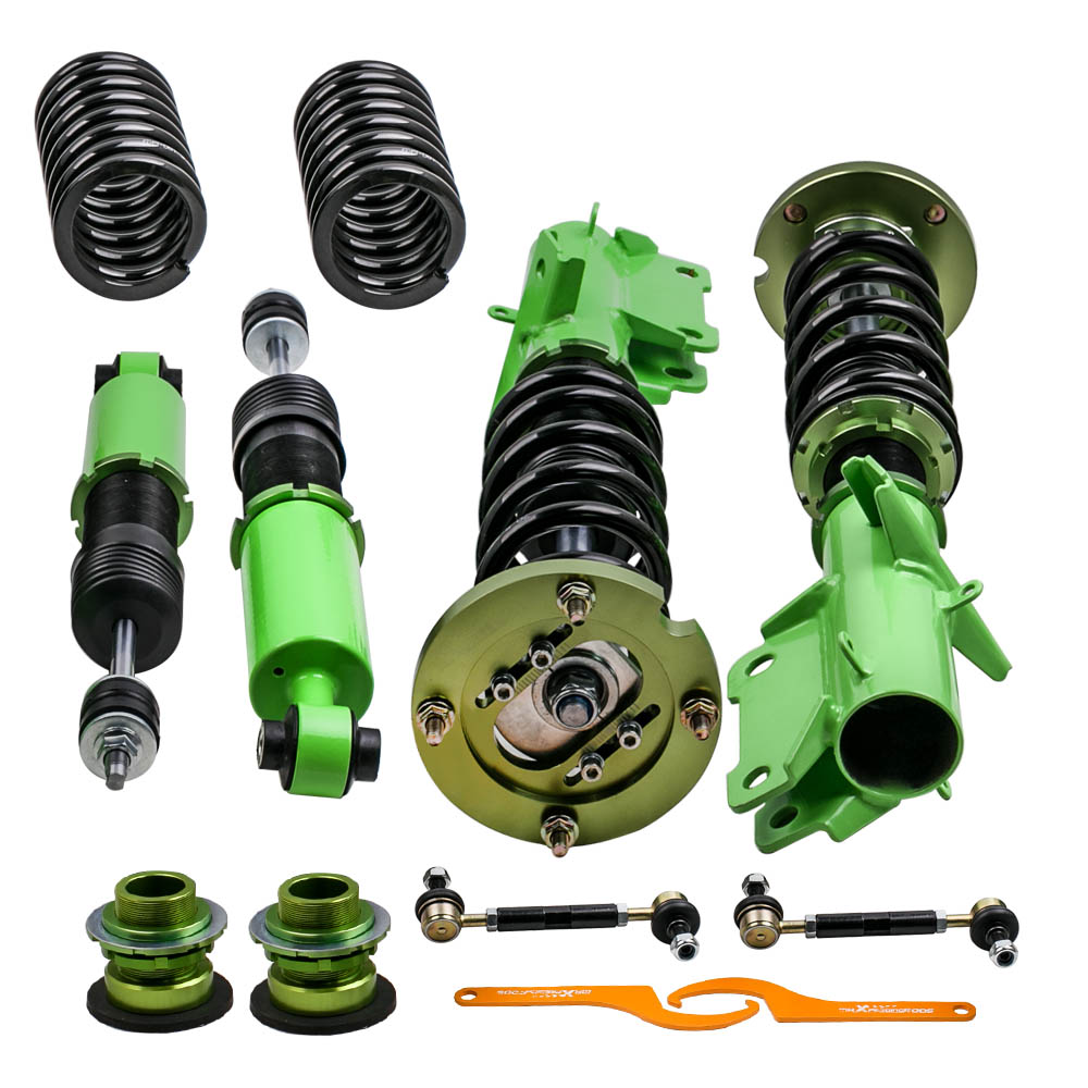 New Full Set Coilovers Suspension Spring for Ford Mustang 05 14 Adj. Height Coil Spring Shocks Absorber Struts