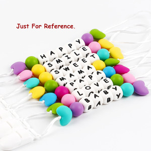Image 5 - TYRY.HU 200Pcs 12mm Silicone Letter Beads Food Grade Teething Nursing Loose Silicone Beads Chewing Pacifier Chain Teether Bead